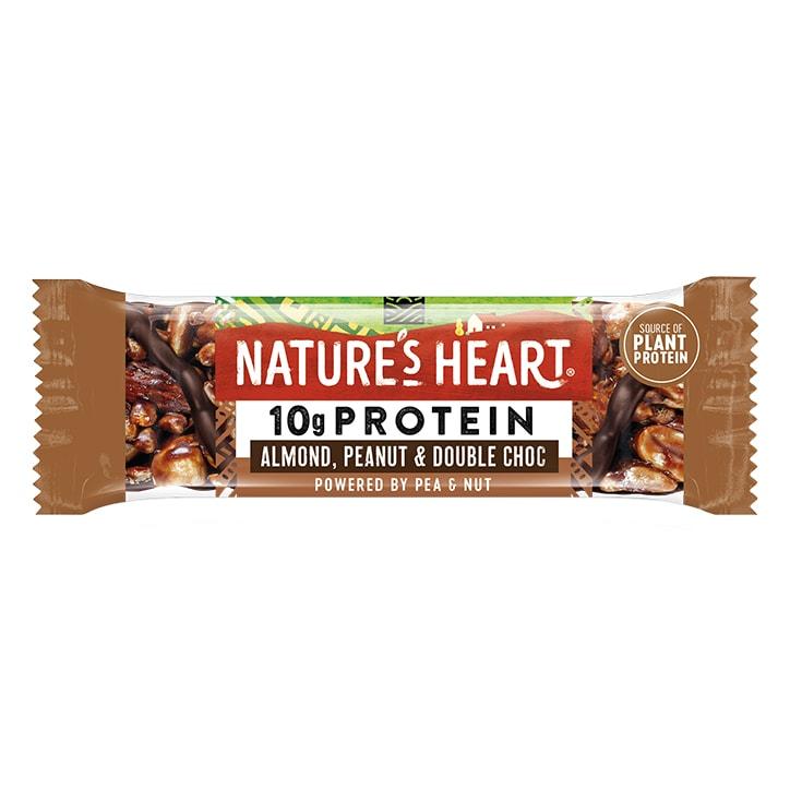 Nature's Heart Plant Protein Almond, Peanut & Double Dark Choc 45g