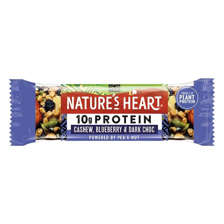 Nature's Heart Plant Protein Cashew, Blueberry & Dark Choc Bar 45g