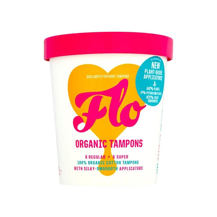 Flo Organic Eco-applicator Tampons (Regular & Super 14 pack)