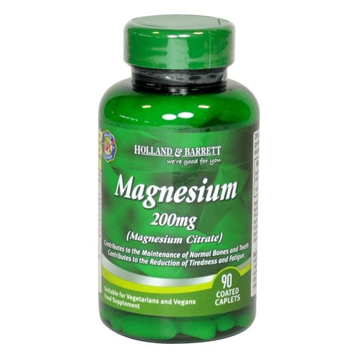 Holland & Barrett Magnesium Citrate 90 Caplets 200mg