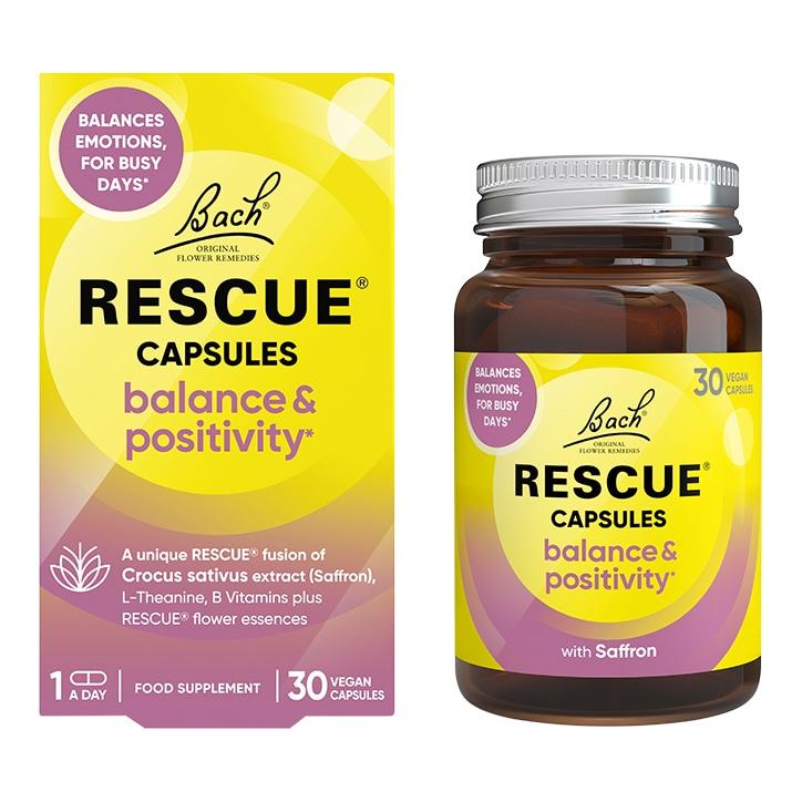 Bach RESCUE Balance & Positivity 30 Vegan Capsules