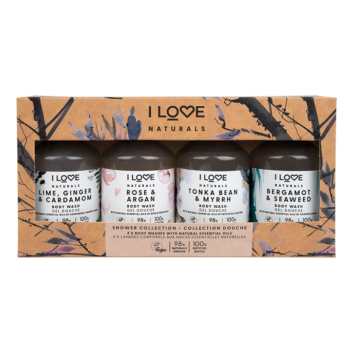 I Love Natural Shower Collection 4 x 125ml