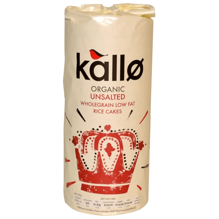 Kallo Organic Unsalted Rice Cakes