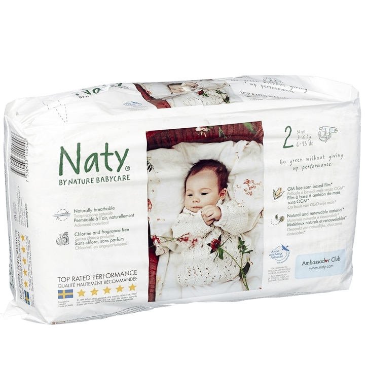 Naty By Nature Natural 36 Nappies Size 2 Extra Small