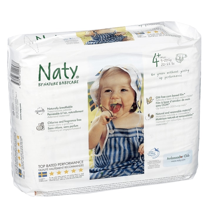 Naty By Nature Nautral 27 Nappies Size 4 Medium