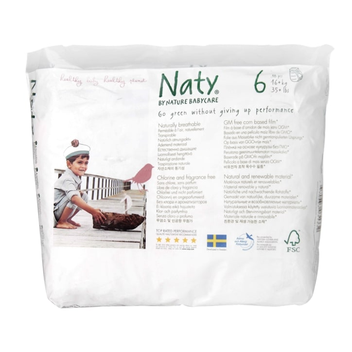 Naty By Nature Natural 18 Pull Up Pants Size 6 Extra Large
