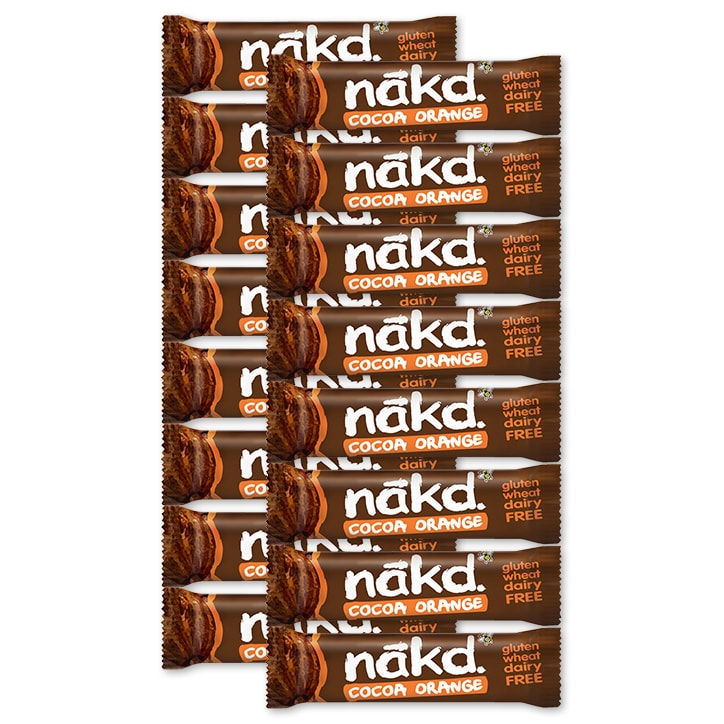 Nakd Cocoa Orange Fruit & Nut Bar 18 x 35g