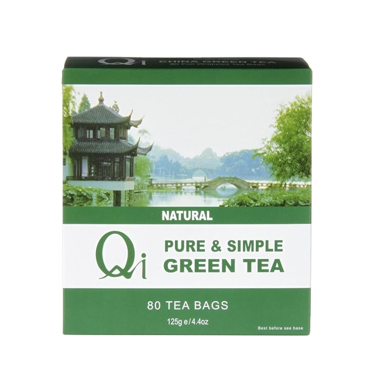 Qi Teas Green Tea Pure & Simple 80 Tea Bags