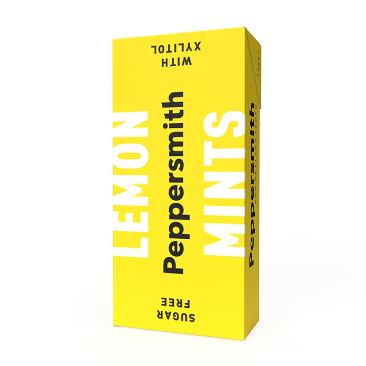 Peppersmith 100% Xylitol Sicilian Lemon Mints 15g