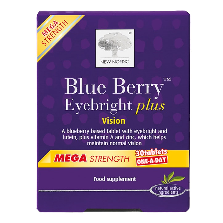 New Nordic BlueBerry Eyebright Plus One-a-Day 30 Tablets