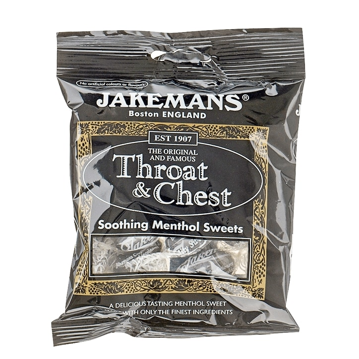 Jakemans Original Throat & Chest Soothing Menthol Sweets 100g Bag