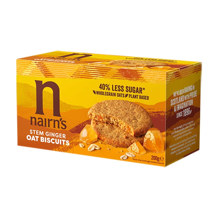 Nairn's Oat Biscuits Stem Ginger 200g