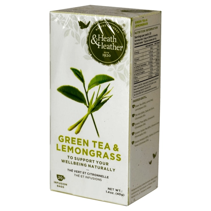 Heath & Heather Green Tea & Lemongrass Herbal Infusions