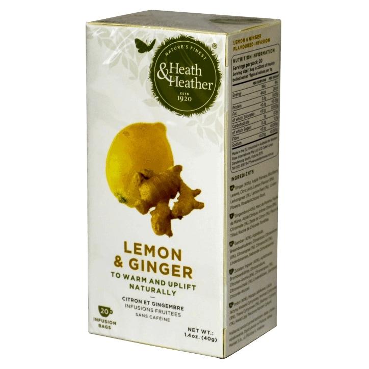 Heath & Heather Ginger & Lemon 20 Tea Bags