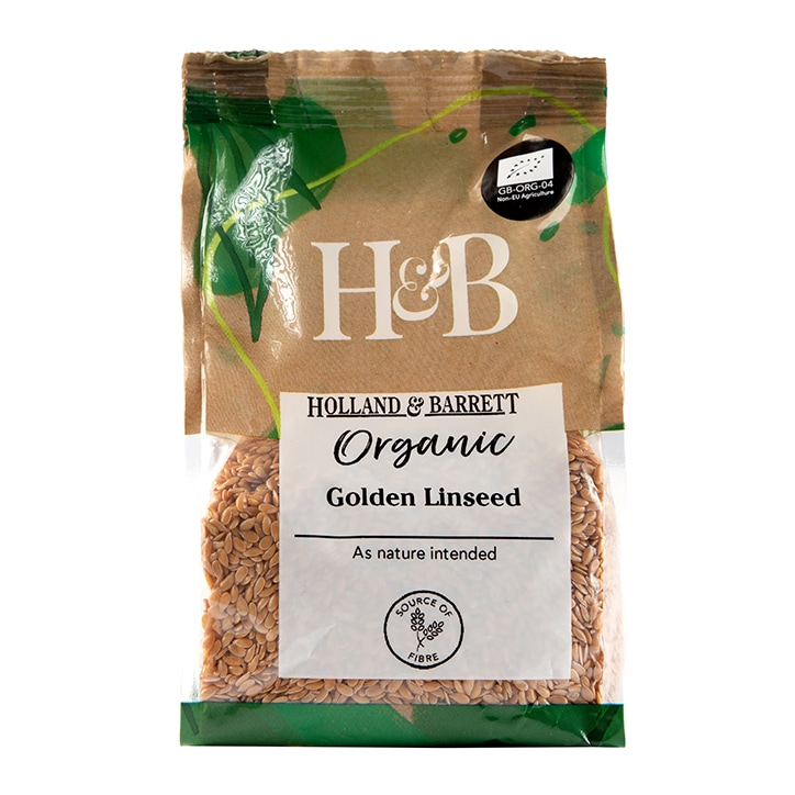 Holland & Barrett Organic Golden Linseed 250g