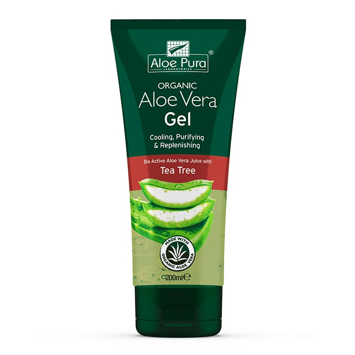 Aloe Pura Optima Organic Aloe Vera Gel With Tea Tree