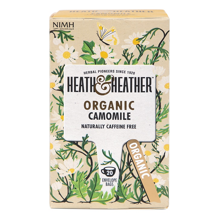 Heath & Heather Organic Camomile 20 Tea Bags