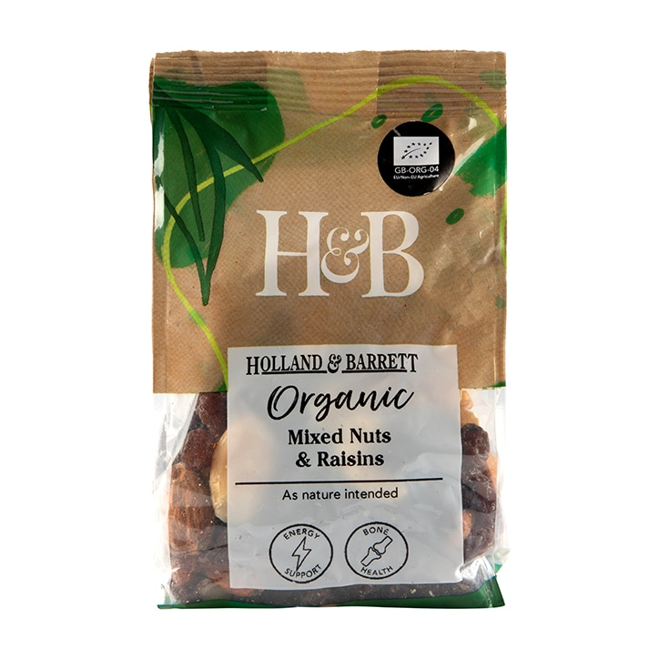 Holland & Barrett Organic Nuts & Raisins 250g