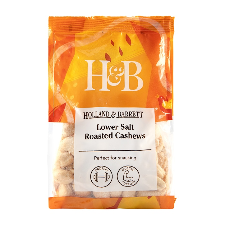 Holland & Barrett Lower Salt Roasted Cashews 200g