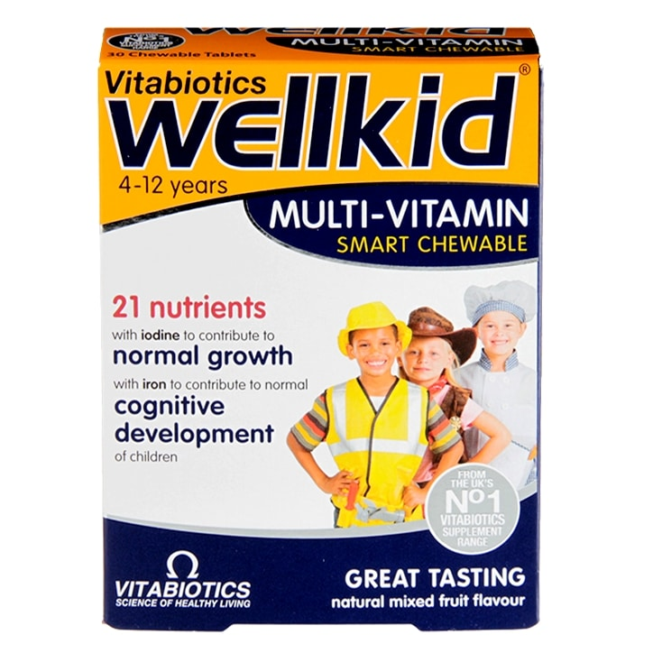 Vitabiotics Wellkid Multi-Vitamin Chewables 30 Tablets