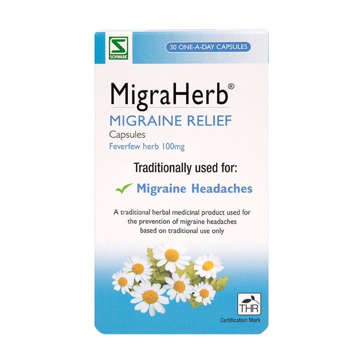 Schwabe Pharma Migraherb 100mg 30 Capsules