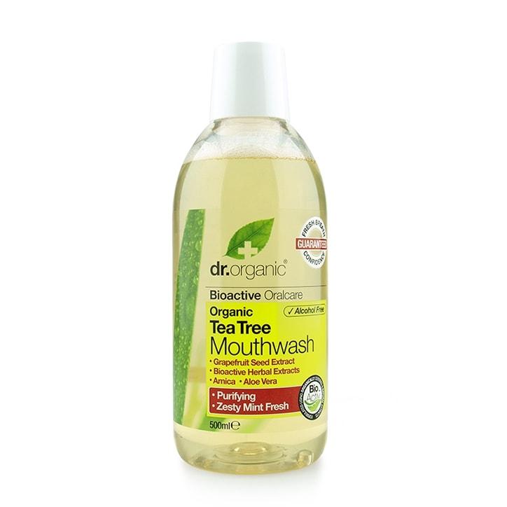 Dr Organic Antibacterial Tea Tree Mouthwash 500ml