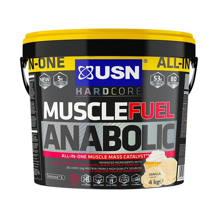 USN Muscle Fuel Anabolic Vanilla Powder 4000g