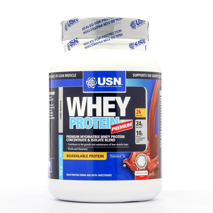 USN 100% Whey Protein Powder Chocolate 908g