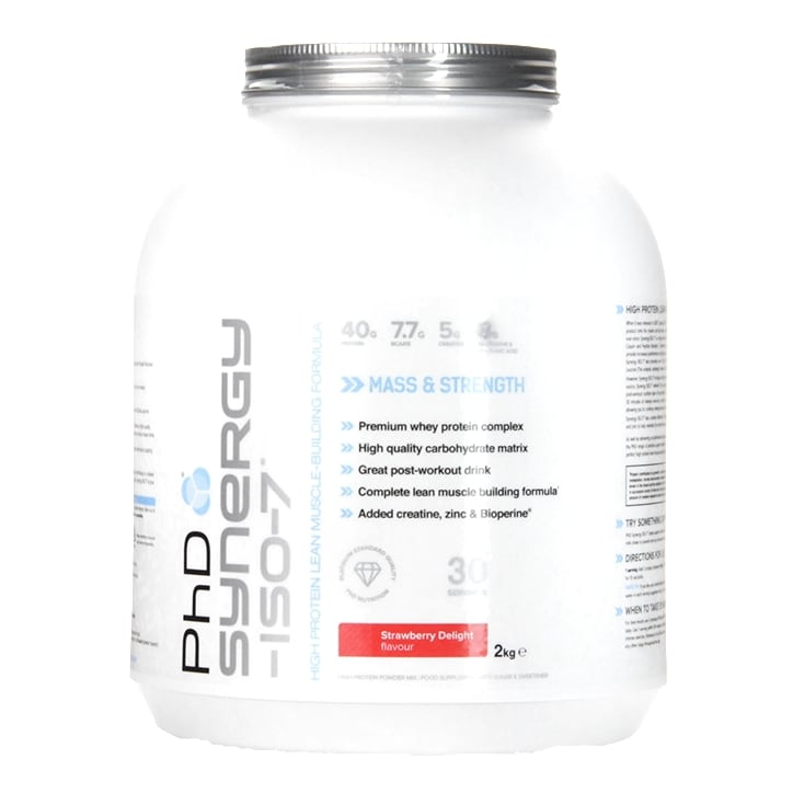 PhD Synergy ISO-7 Strawberry Delight Powder