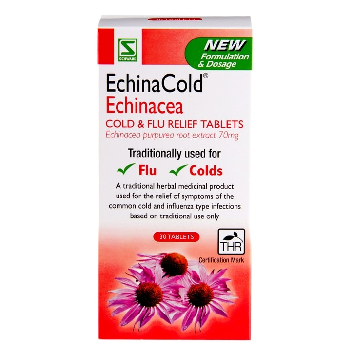 Schwabe Pharma EchinaCold Echinacea Cold & Flu Relief 30 Tablets
