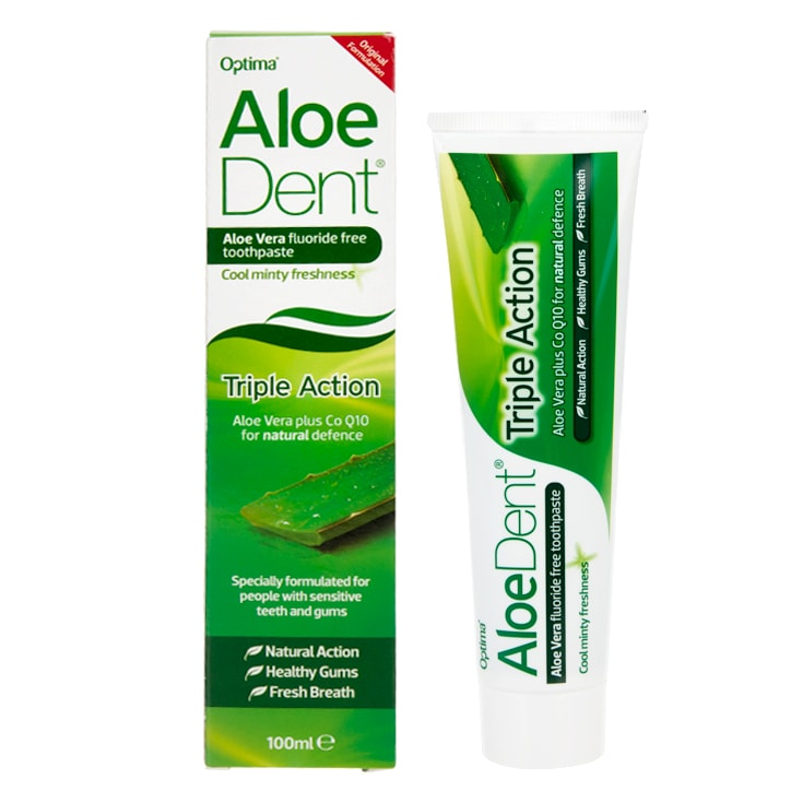 Aloe Dent Triple Action Aloe Vera Toothpaste with Co Q10