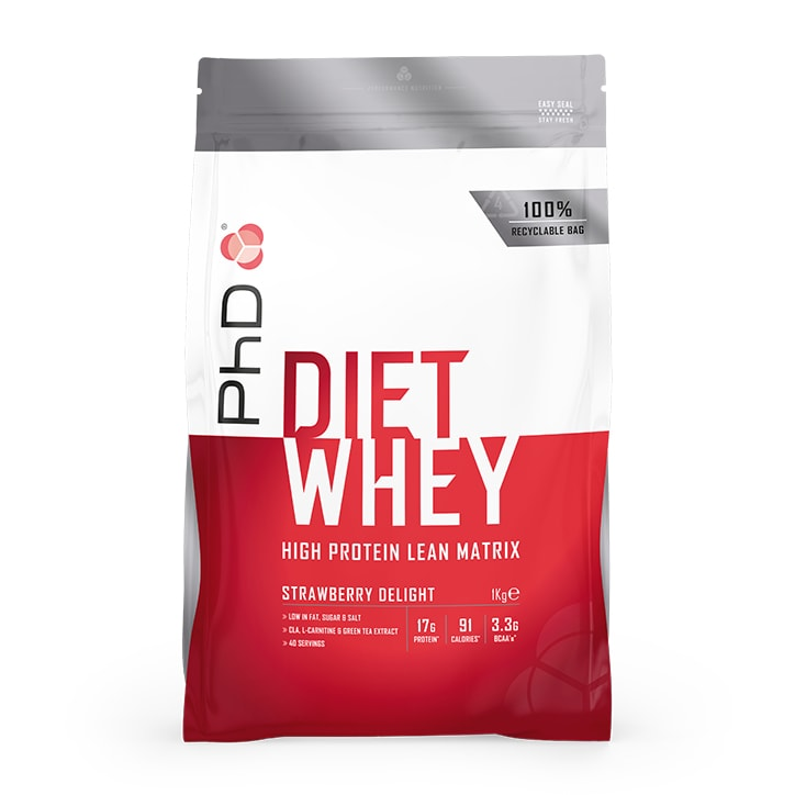 PhD Diet Whey Powder Strawberry Delight 1000g