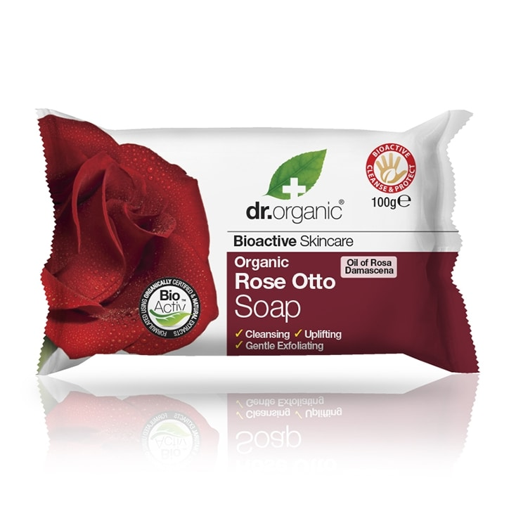Dr Organic Rose Otto Soap 100g