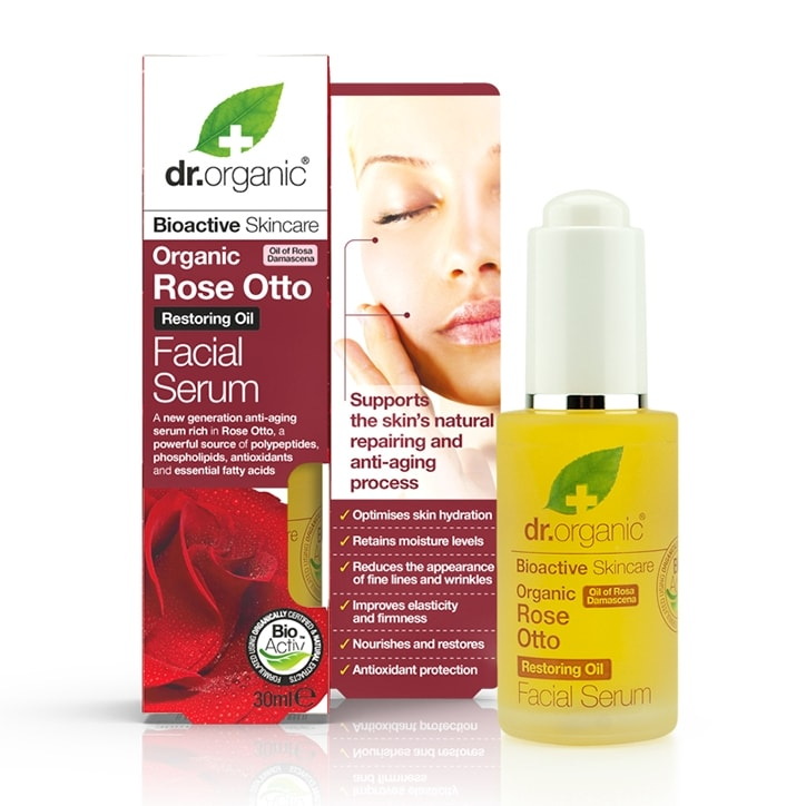 Dr Organic Rose Otto Facial Serum 30ml
