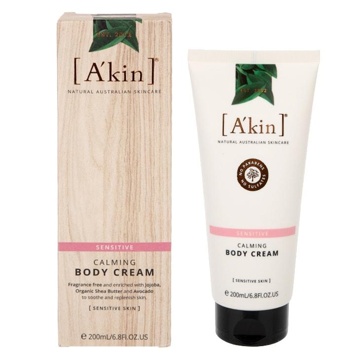 A'kin Calming Unscented Body Cream 200ml