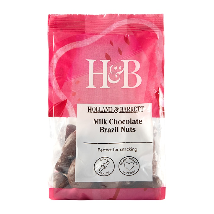 Holland & Barrett Milk Chocolate Brazil Nuts 200g