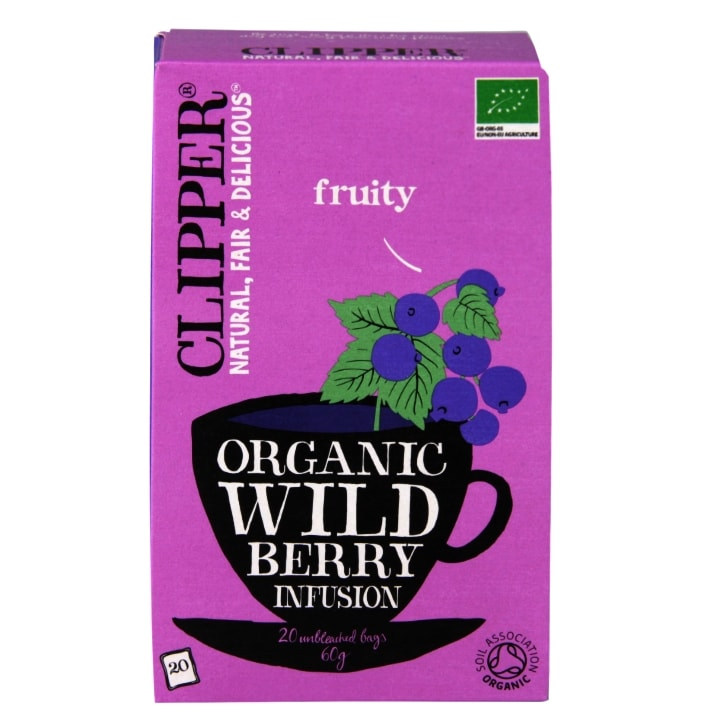 Clipper Organic Refreshing Infusion Wild Berry 20 Tea Bags