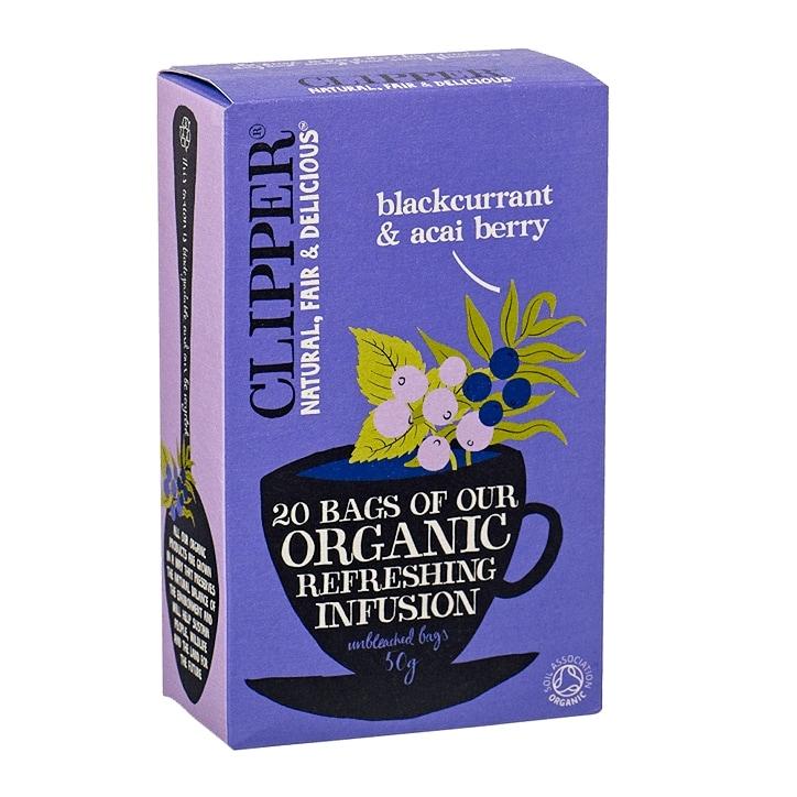 Clipper Blackcurrant & Acai Berry Tea Bags