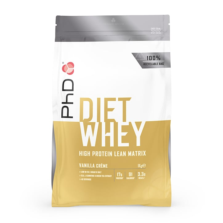 PhD Nutrition Diet Whey Protein Powder Vanilla Crème 1000g