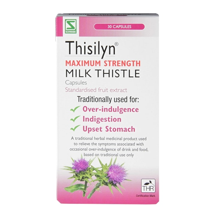 Schwabe Pharma Thisilyn Maximum Strength Milk Thistle Capsules