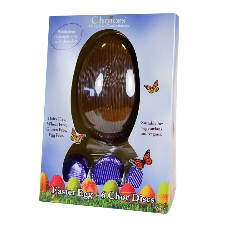 Choices Dairy Free Chocolate Easter Egg 125g