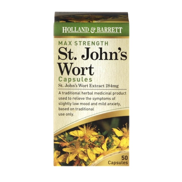 Holland & Barrett Maximum Strength St John's Wort Capsules 50 Capsules 284mg