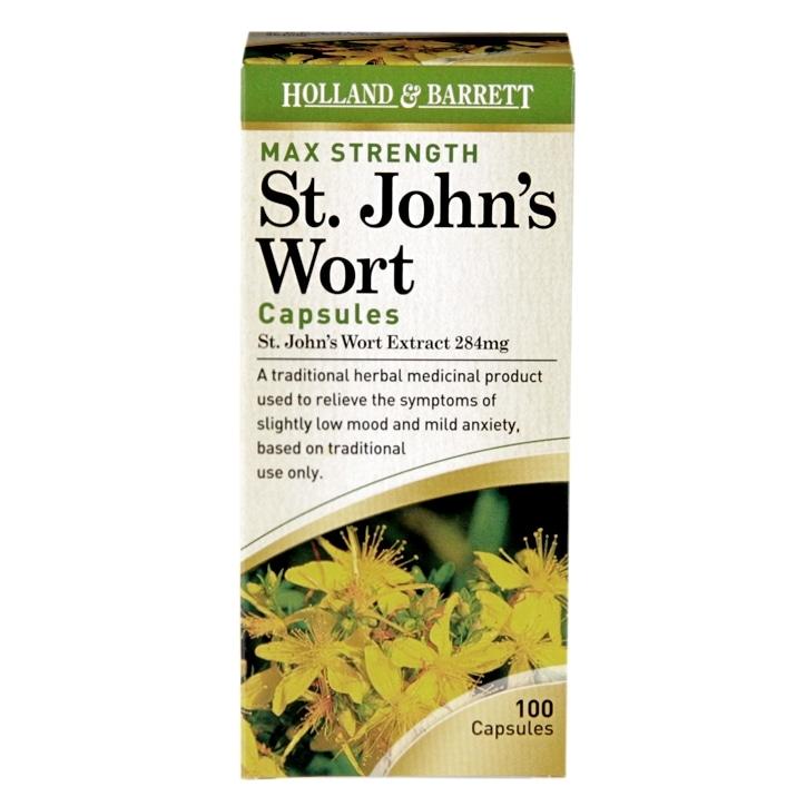 Holland & Barrett Maximum Strength St John's Wort Capsules 100 Capsules 284mg