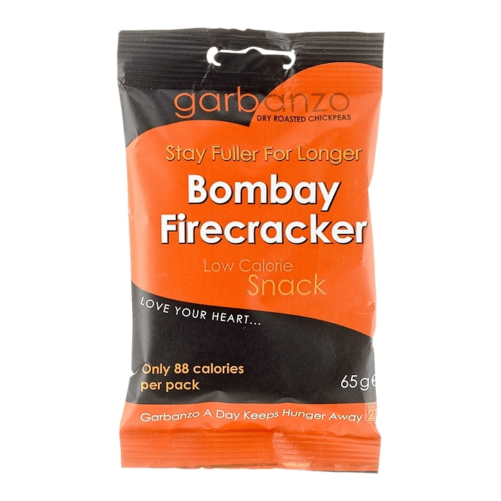 Garbanzo Dry Roasted Chickpeas Bombay Fire Cracker 65g