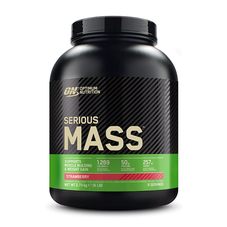 Optimum Nutrition Serious Mass Strawberry 2727g Powder