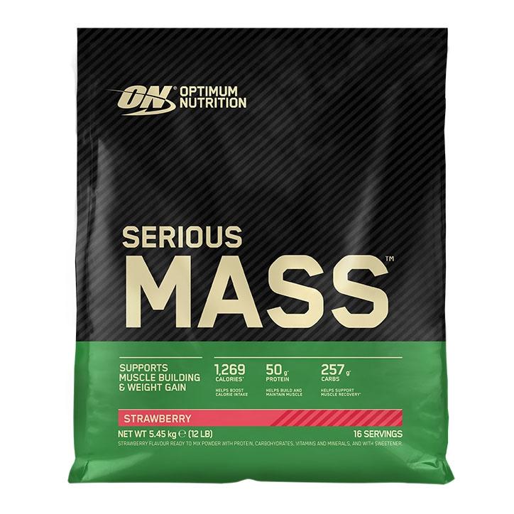 Optimum Nutrition Serious Mass Strawberry 5400g Powder