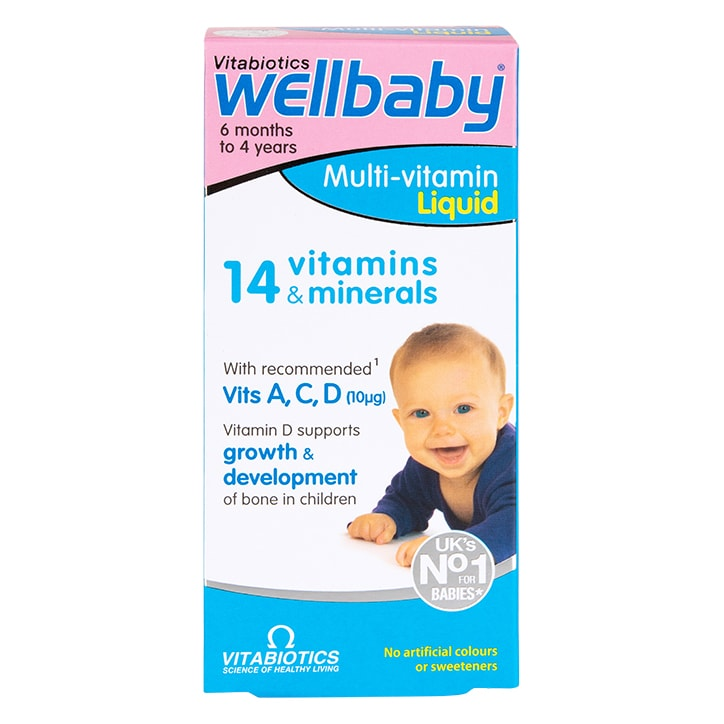 Vitabiotics Wellbaby Multi-Vitamin Liquid 6 Months to 4 Years 150ml