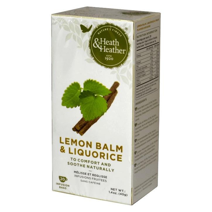 Heath & Heather Lemon Balm & Liquorice 20 Tea Bags