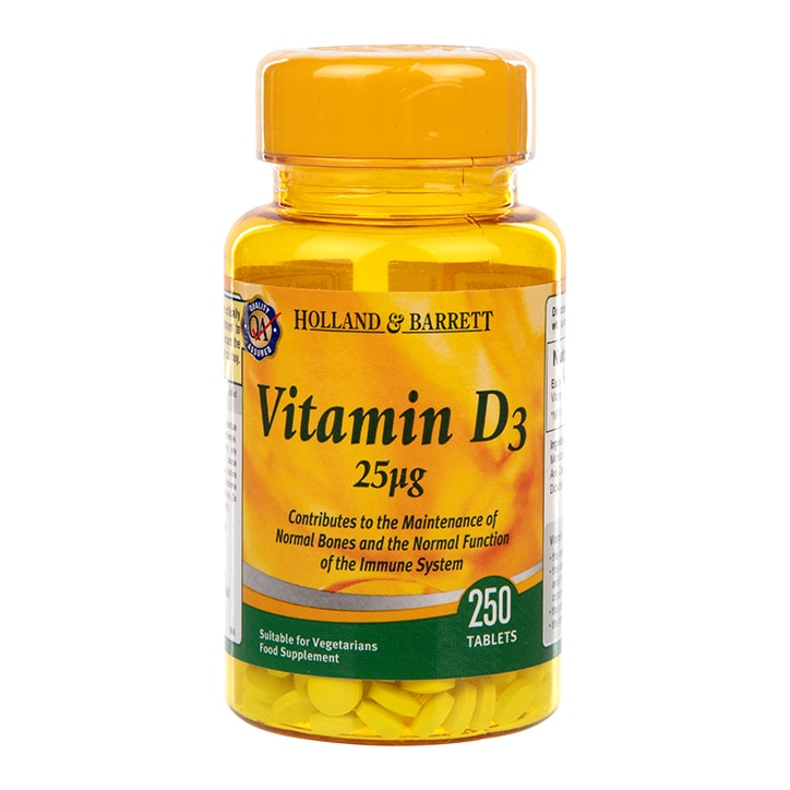 Holland & Barrett Vitamin D3 250 Tablets 25ug