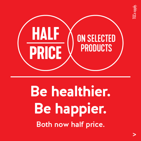 Up to Half Price on Selected Items